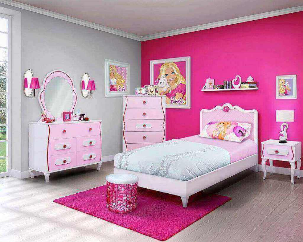 desain kamar tidur barbie