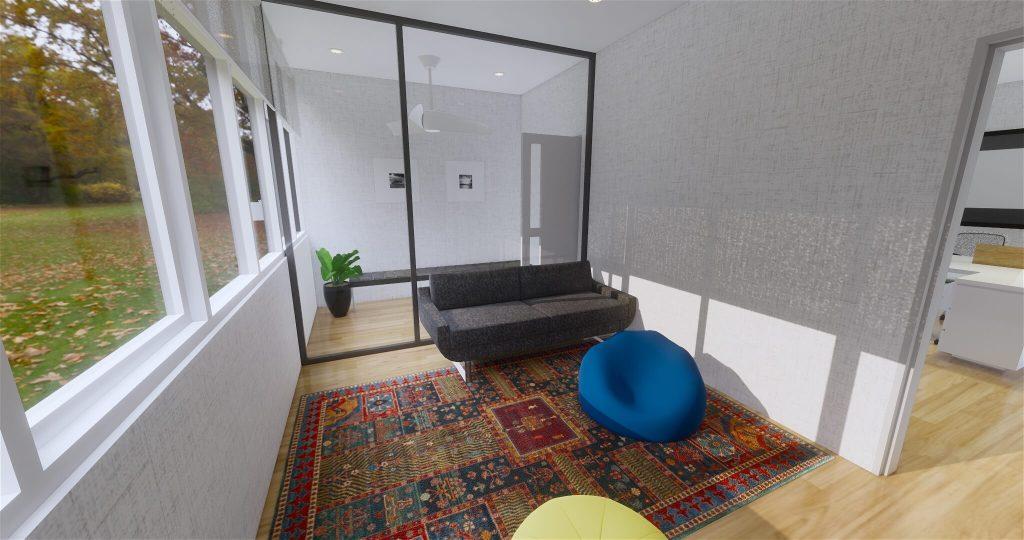 Desain lounge kantor modern