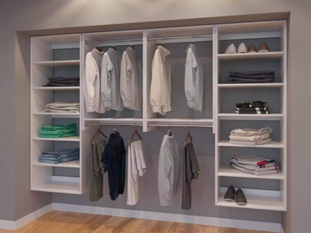 smart living instalasi lemari pakaian vertikal