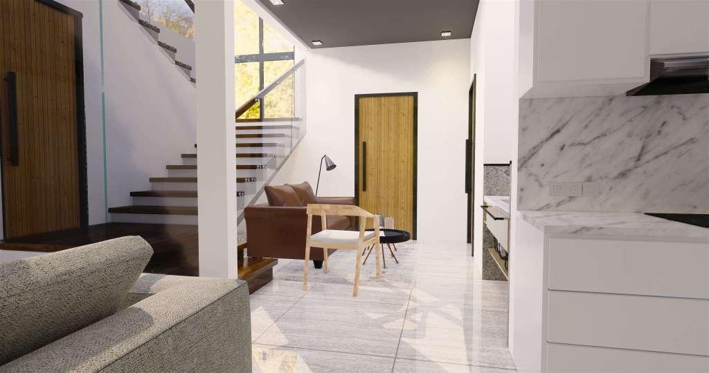Desain ruang tamu modern natural