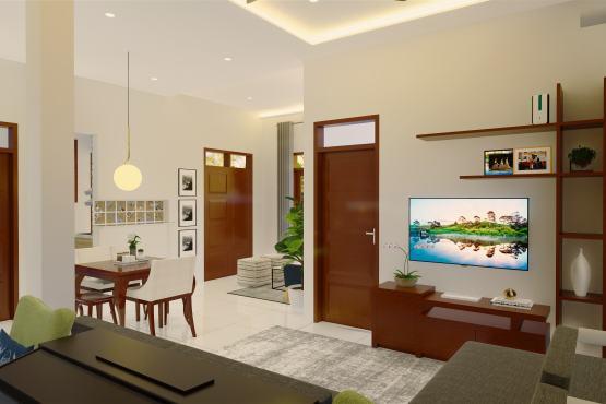 Desain interior ruang keluarga modern