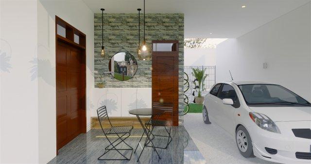 Desain interior rumah dengan gaya modern kontemporer