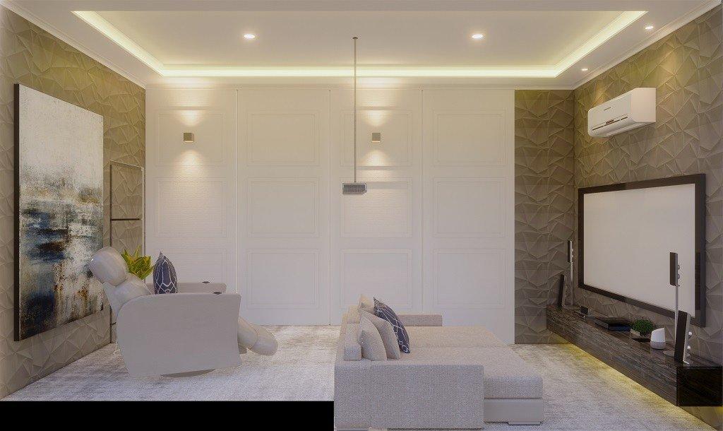 desain home theater gaya klasik modern