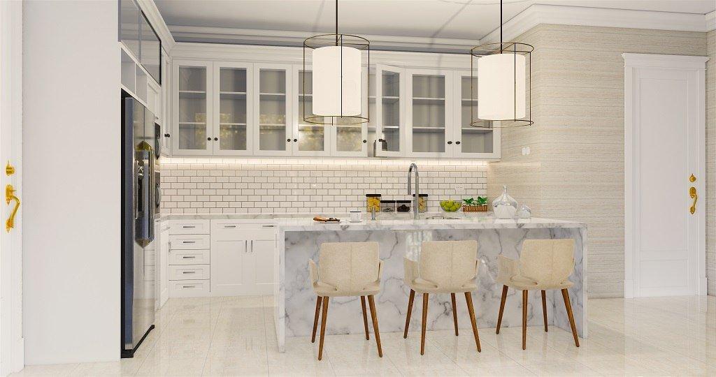 interior rumah mewah gaya klasik modern