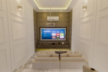 desain home theater gaya classic modern