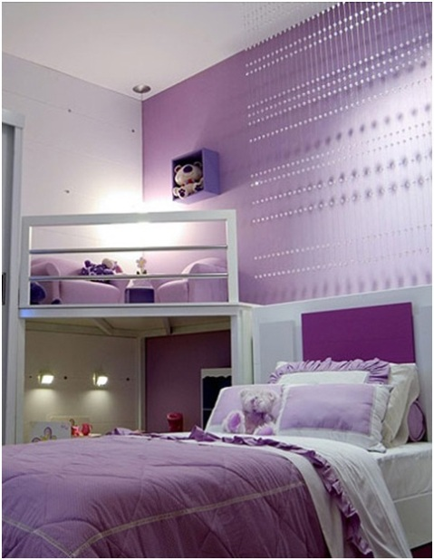 Girls' Purple Bedroom Decorating Ideas - Interior design on Beautiful Room Design For Girl  id=80262