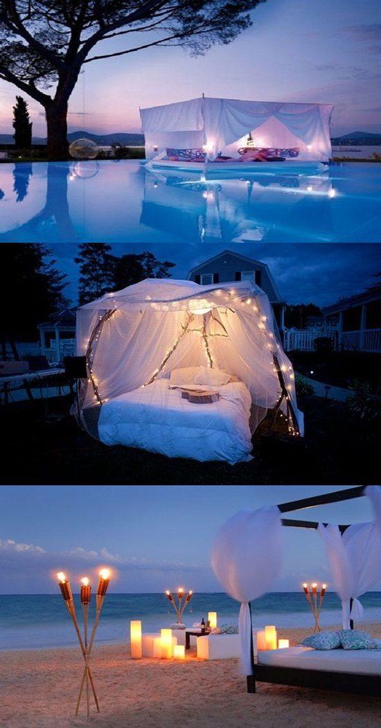 Romantic Outdoor Canopy Beds Interior Design
