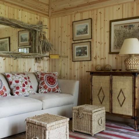 Rustic Living Room Furniture Interior Design