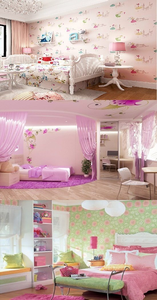 wallpaper border for teenage girls bedroom - interior design