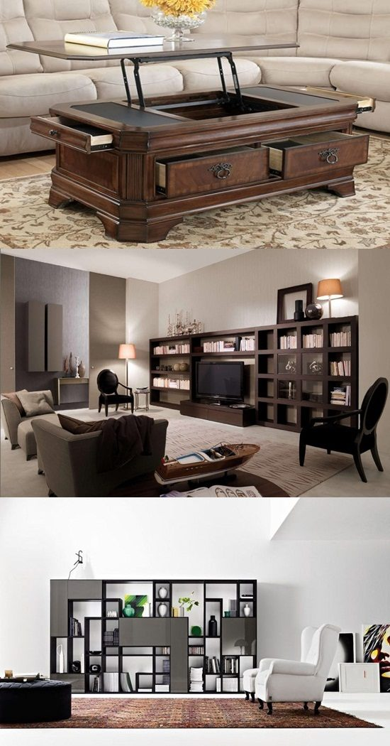 create more storage space in your living room  interior