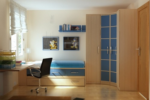 Teen Bedroom Design Ideas for Small Spaces - Interior design on Bedroom Ideas For Small Spaces  id=59262