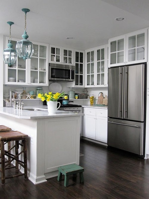 Smart & Space-Saving Ideas for Small Kitchens - Interior ... on Small Space Small Kitchen Ideas  id=83742