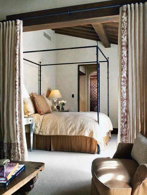traditional mediterranean bedroom curtain ideas  interior