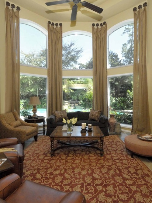 Bay Window Curtains And Window Treatments