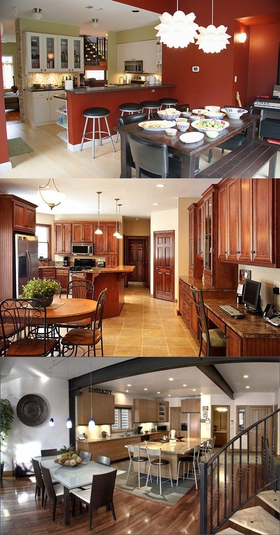 Combine Your Kitchen And Dining Room And Get Space And