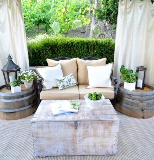 8 Cute Patio Side Table Design Ideas - Interior design on Backyard Table Decor id=26094