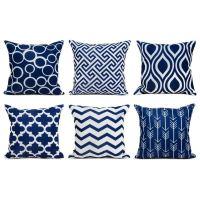 Blue Outdoor Throw Pillows