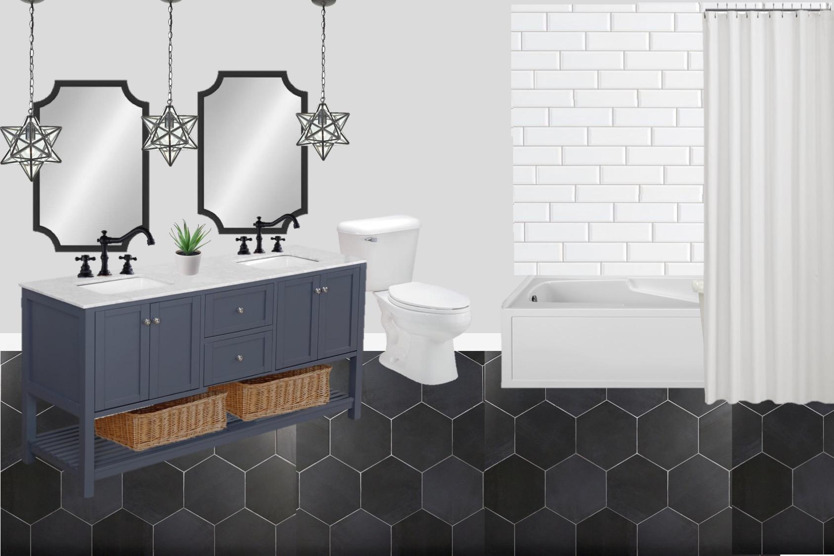 Budget Friendly Modern Farmhouse Bathroom Design Interior Design For Beginners