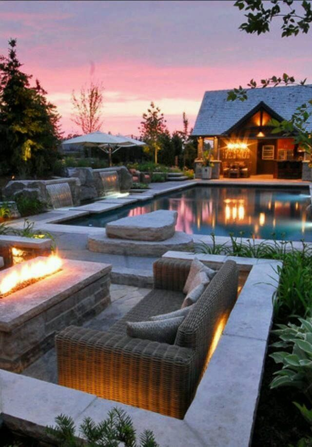TOP 12 STUNNING FIREPLACES FOR LUXURY OUTDOOR LIVING ... on Outdoor Living Designer id=89885
