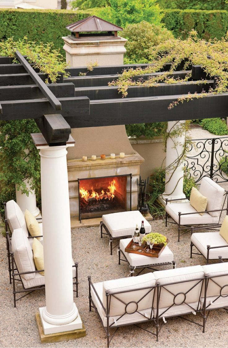 TOP 12 STUNNING FIREPLACES FOR LUXURY OUTDOOR LIVING ... on Fancy Outdoor Living id=66818