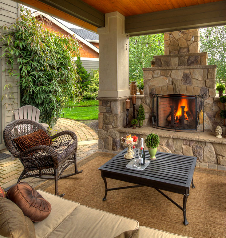 TOP 12 STUNNING FIREPLACES FOR LUXURY OUTDOOR LIVING ... on Backyard Outdoor Living Spaces id=20912