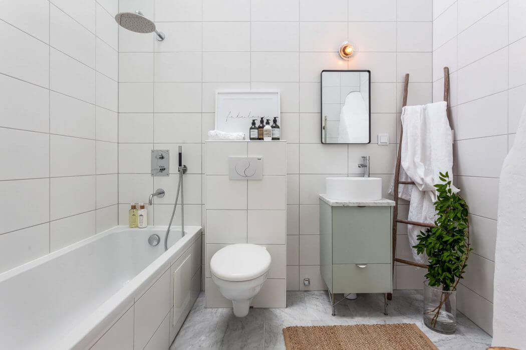 Saving space and fully functional attic apartment in ... on Apartment Bathroom  id=26866