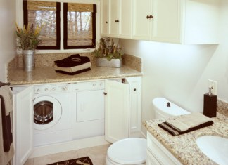 Bathroom Designs & Laundry Space For Multi Functioning