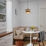 Kitchen designs with banquette area