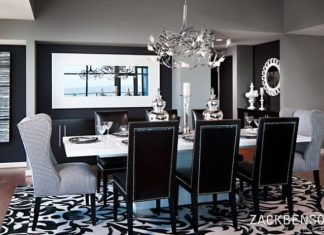 Black White Dining Room Designs
