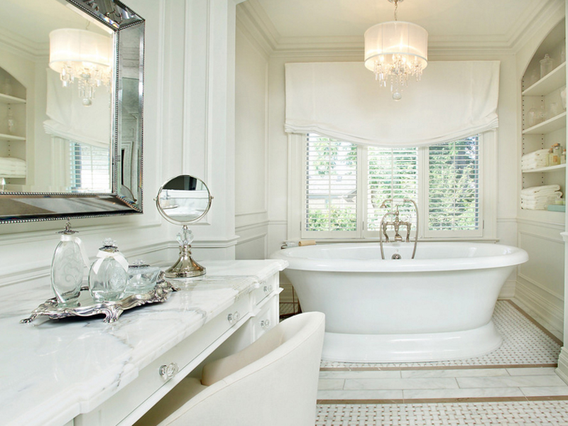 Stunning Ideas To Design Your Bathroom With Chandeliers
