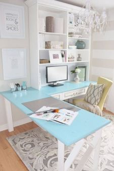 Before After A Pretty Home Office Makeover - Hometalk.com