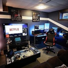 Best Video Game Room Ideas For Gamers Guide ☼ Via Unscripted360 #Gaming Room Setup #Quarto Gamer #Playstation Room #xbox Room-13