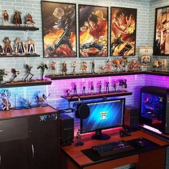 Best Video Game Room Ideas For Gamers Guide ☼ Via Unscripted360 #Gaming Room Setup #Quarto Gamer #Playstation Room #xbox Room-9
