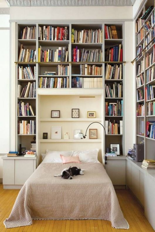 Bookish Bedrooms You Need To See ⊶ Via Media.bookbub #HomeLibraryDesign