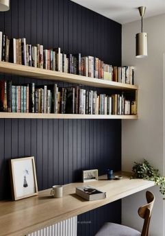 Breathtaking Modern Wall Decor Ideas With ⊶ Via 4mytop.win #BookStorage