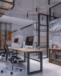 Brilliant Industrial Office Design Ideas - Trendhmdcr.com