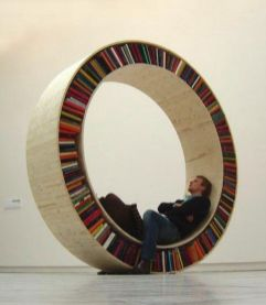 Circular Walking Bookshelf By David Garcia ⊶ Via Freshome #DreamLibrary