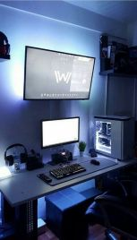 DIY Computer Desk Ideas ☼ Via Ryanscott2go #Ps4 Gaming Setup #Dream Rooms #Gaming Setup Xbox