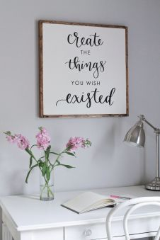 DIY Wood Sign With Calligraphy Quote - Angelamariemade.com