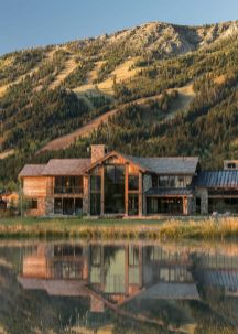 Delightful Rustic Home In Wyoming With A Dramatic - Via Onekindesign