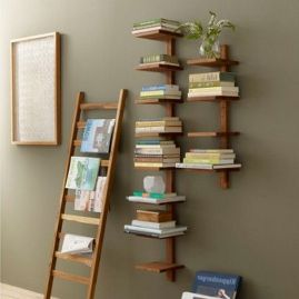 Large Takara Column Shelf By Design Ideas ⊶ Via Zola #HomeLibraryDesign