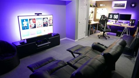 Man Cave Basement Office ☼ Via Lotterysecrets #Gaming Room Setup #Quarto Gamer #Playstation Room #xbox Room