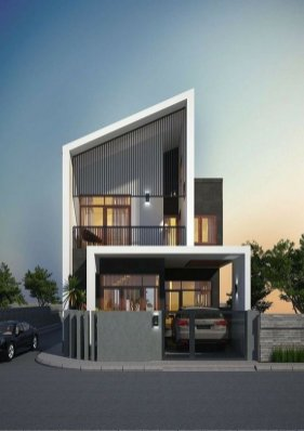 Modern House Design Ideas Evesteps ⊶ Via Evesteps #FacadeHouse