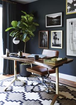 Moody Mid Century Home Office Shop The Look - Stylebyemilyhenderson.com