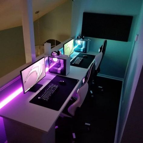 Most Popular Diy Computer Desk Plans ☼ Via Followeric #Gaming Room Setup #Quarto Gamer #Playstation Room #xbox Room