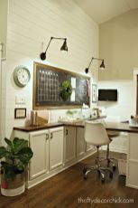 Our Craft Room Office Hang Out Space Wrapping - Thriftydecorchick.com