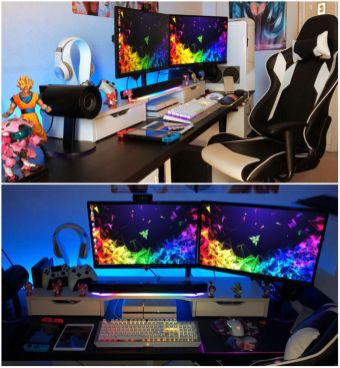 Semi Complete Gaming Set Up Will Be More Mini ☼ Via Techvideoreviews #Gaming Room Setup #Quarto Gamer #Playstation Room #xbox Room