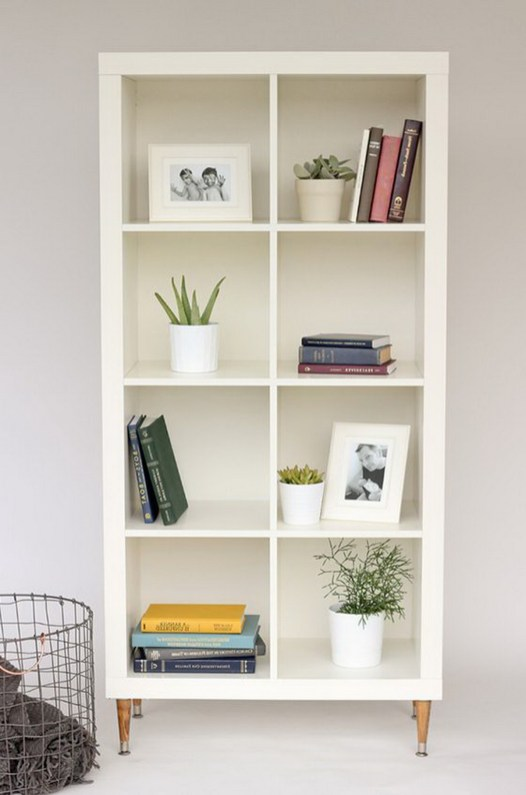 Simple IKEA Kallas Expedit and turns it into a fabulously stylish piece of furniture with a high end glow