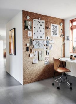 Small Home Office With A Cork Wall Perfect - Brit.co