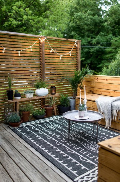 Small outdoor spaces suffer the same fate as indoor rooms— where to put all the clutter